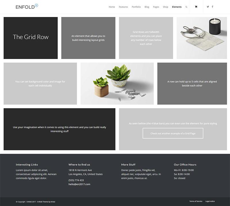 Grid Row – Enfold Documentation