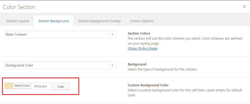 Color Section – Enfold Documentation