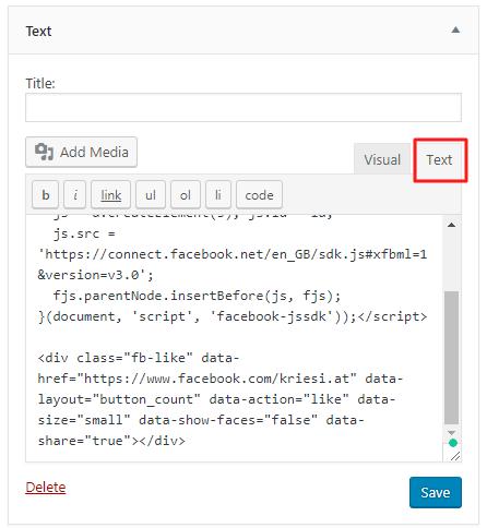 Add a Facebook widget to your header – Enfold Documentation