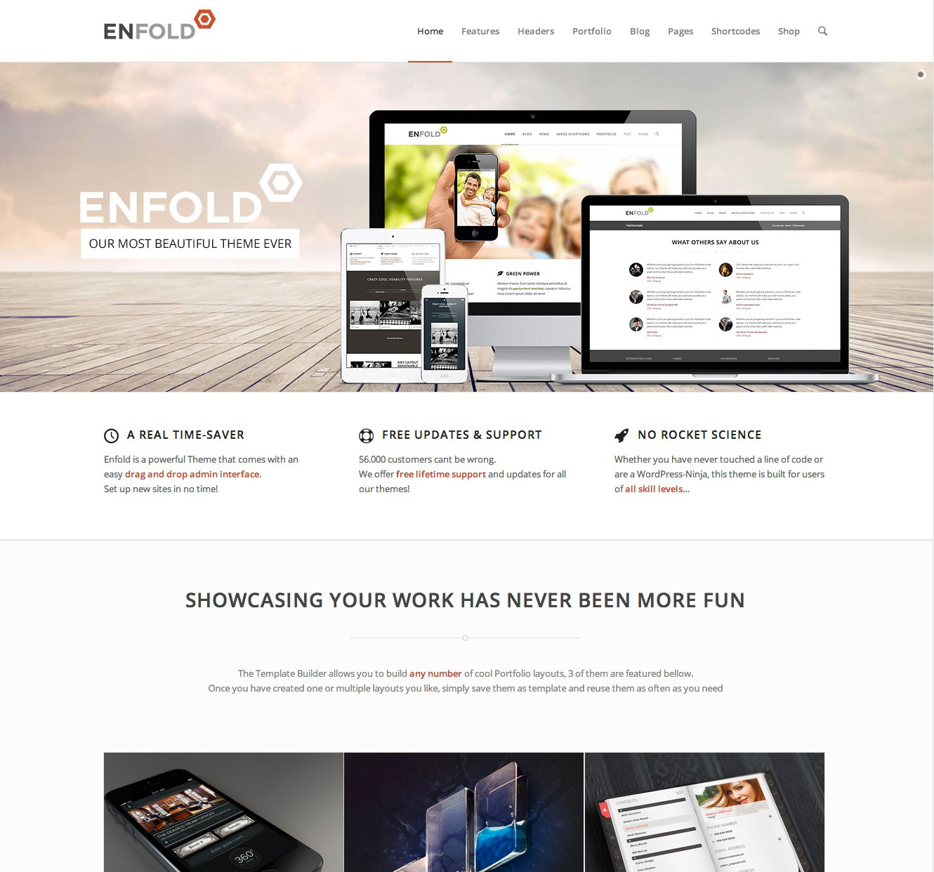 Enfold Demo Overview – A list of all available Enfold demos