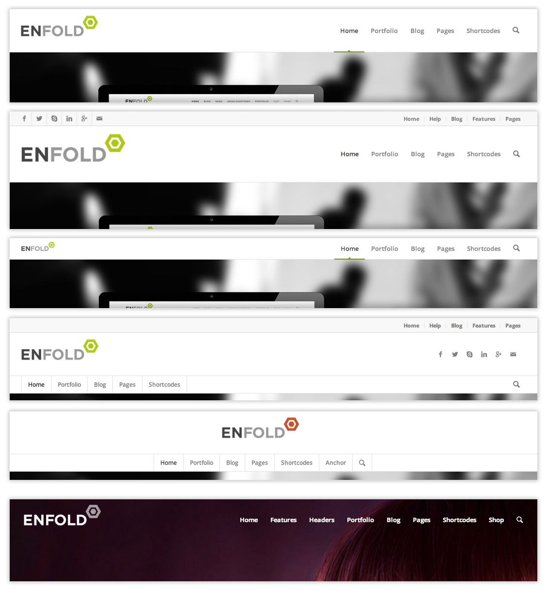 Enfold header options