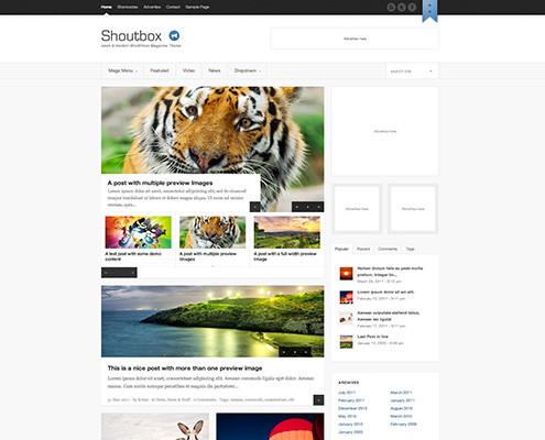 Shoutbox – Magazine WordPress Theme - dlWordPress