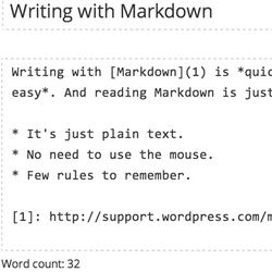 Markdown text format