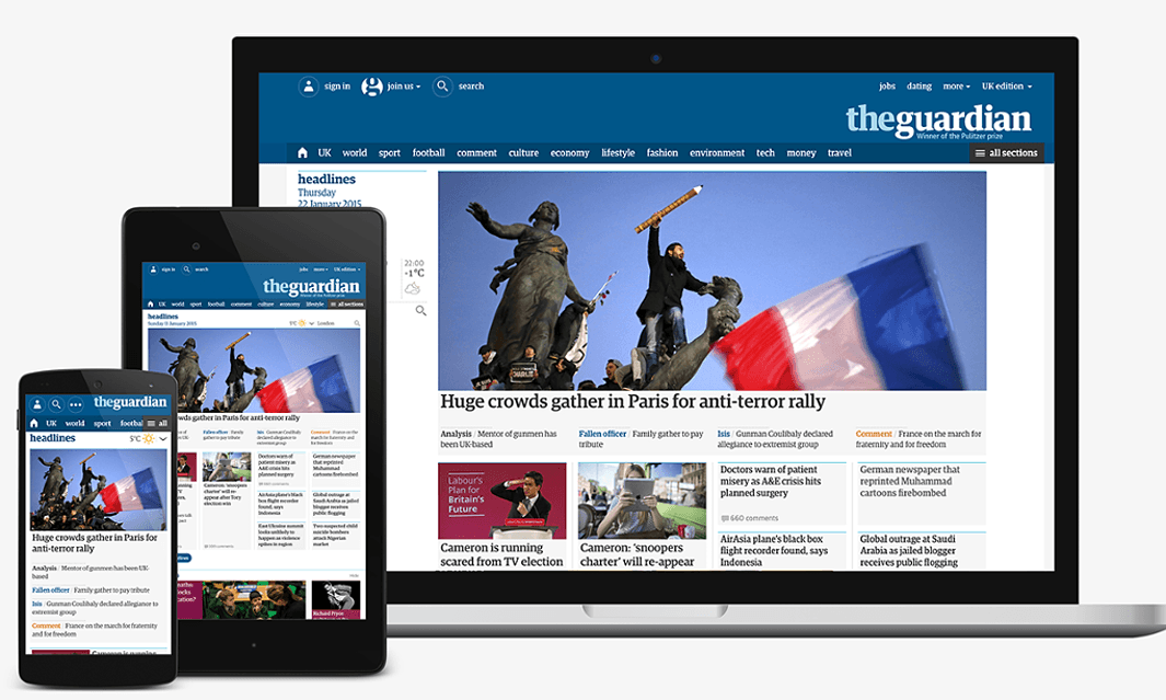 Guardian redesign