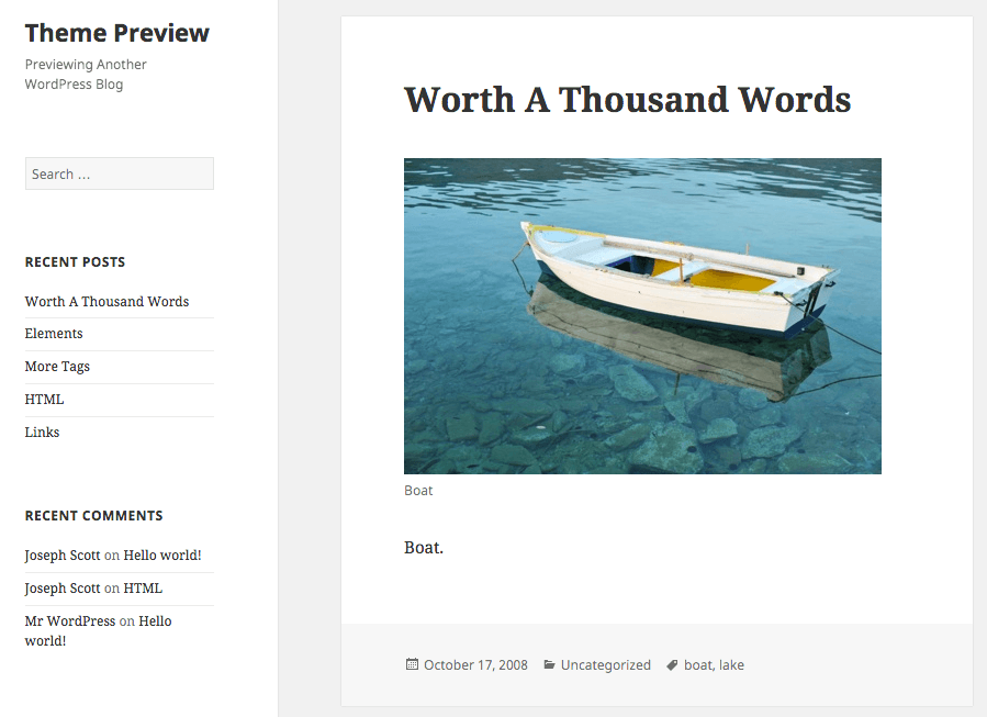 WordPress 2015 Theme
