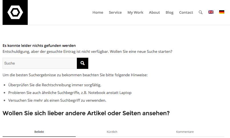 German 404 page