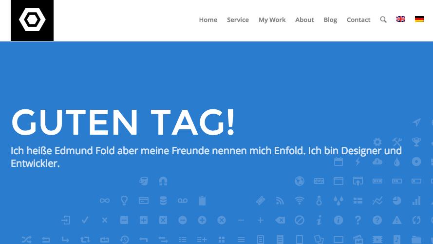 German homepage