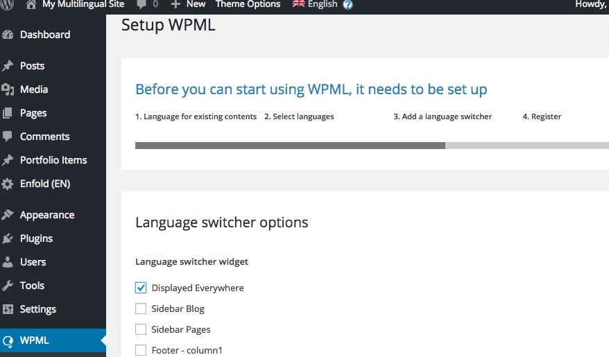 Language switcher options