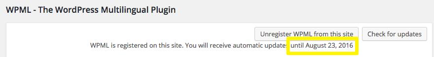 WPML post-registration confirmation