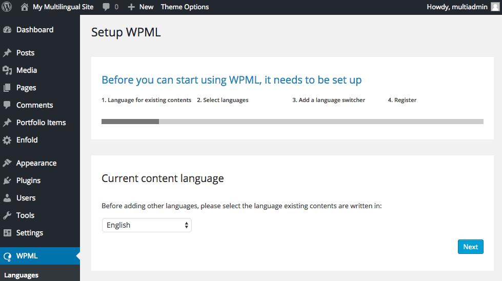 Select current language