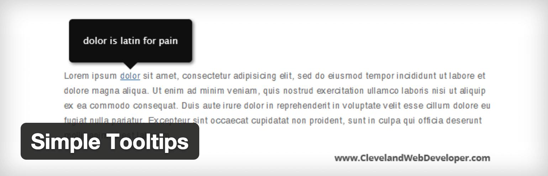 Simple Tooltips plugin logo